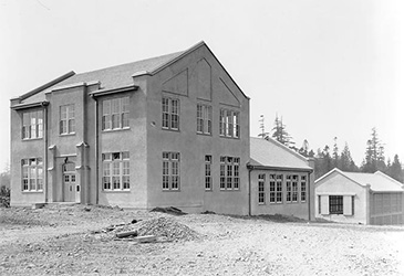 Archive photo of UBC Forestry's past in black & white