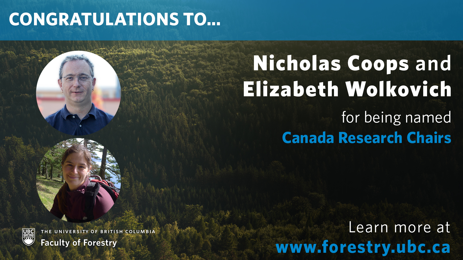 Congratulations to Our Canada Research Chairs