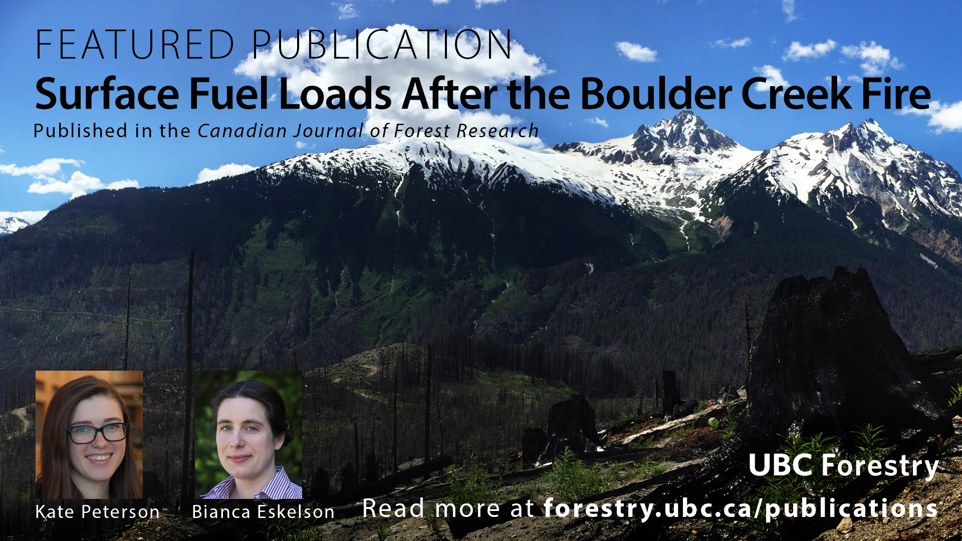 Surface Fuel Loads after the Boulder Creek Fire