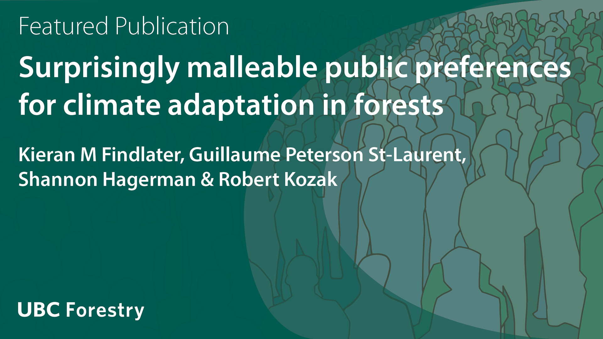 Surprisingly Malleable Public Preferences for Climate Adaptation in Forests
