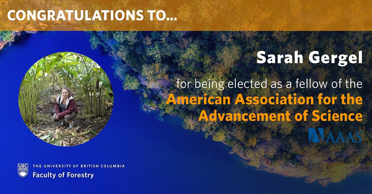 Sarah Gergel elected as fellow of the American Association for the Advancement of Science