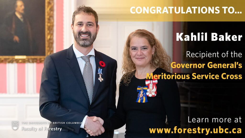 Congratulations to Kahlil Baker for Receiving Governor General of Canada Award