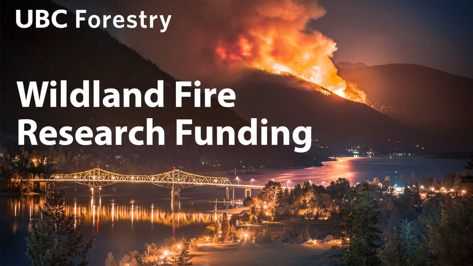 UBC Forestry Co-leading National Wildland Fire Research Network