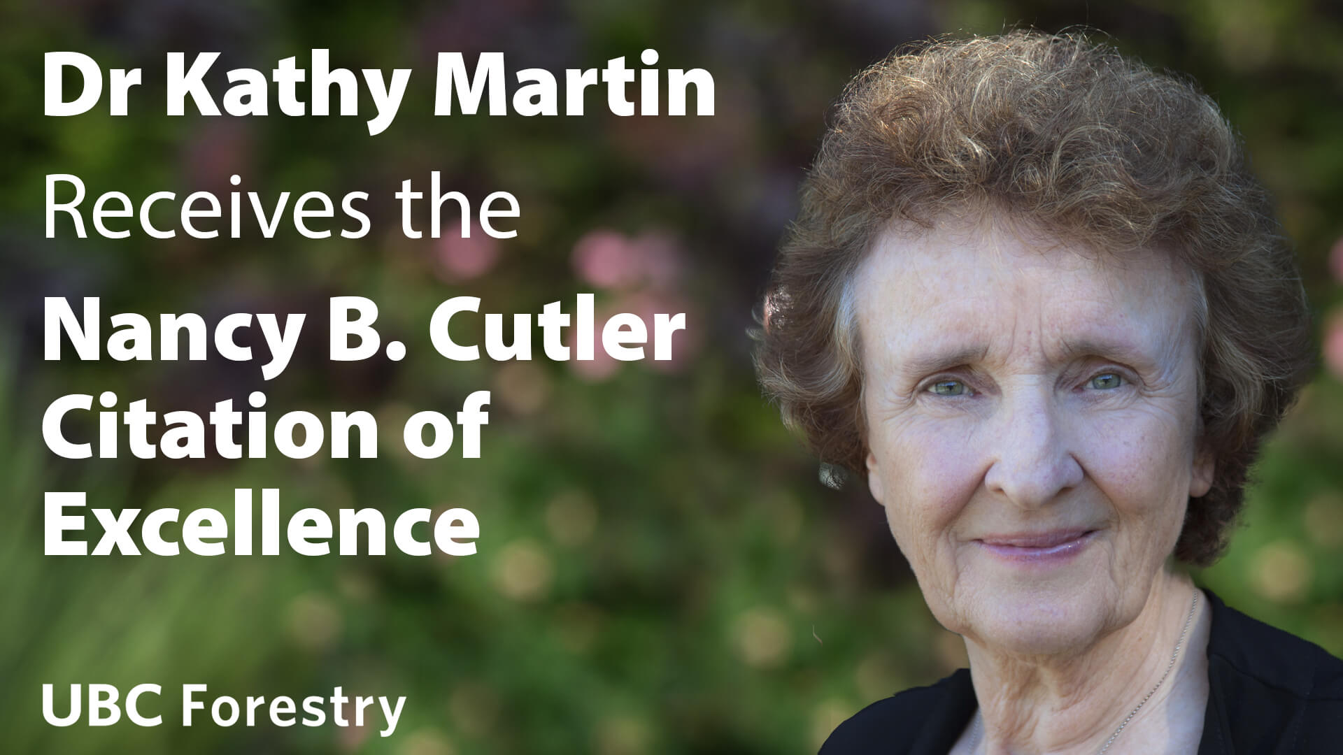 Kathy Martin receives Nancy B. Cutler Citation of Excellence: Women in Science and Technology Award