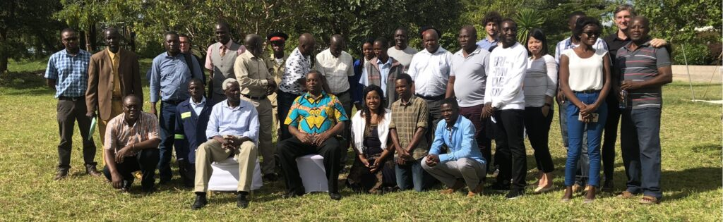Terry Sunderland with workshop group in Zambia
