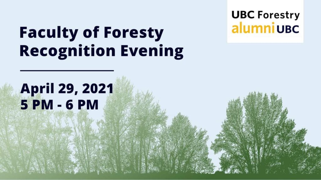 Alumni Recognition Evening - UBC Forestry