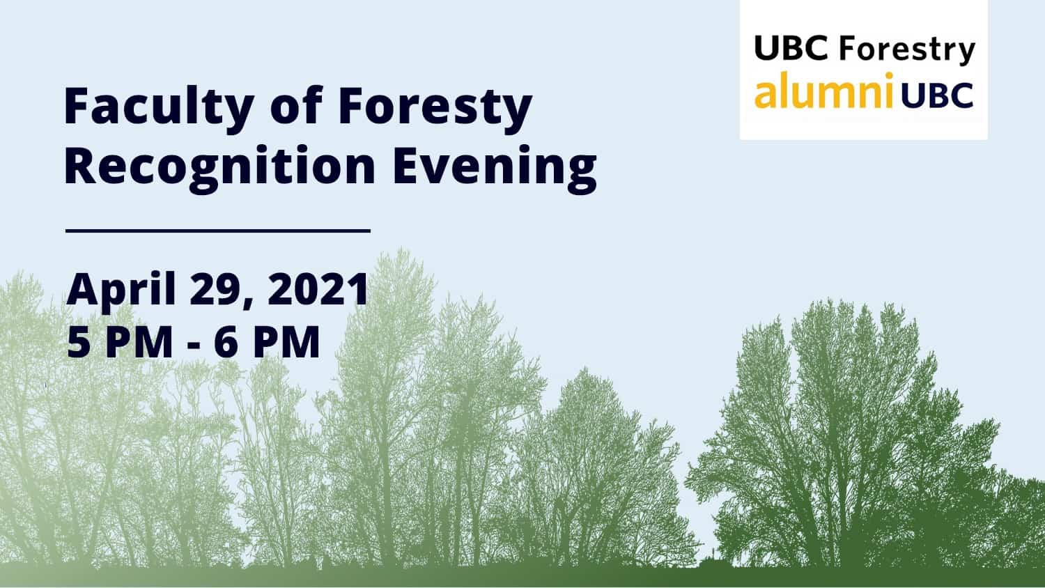 Faculty of Forestry Recognition Evening