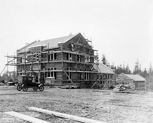 Construction of Forestry building 1925