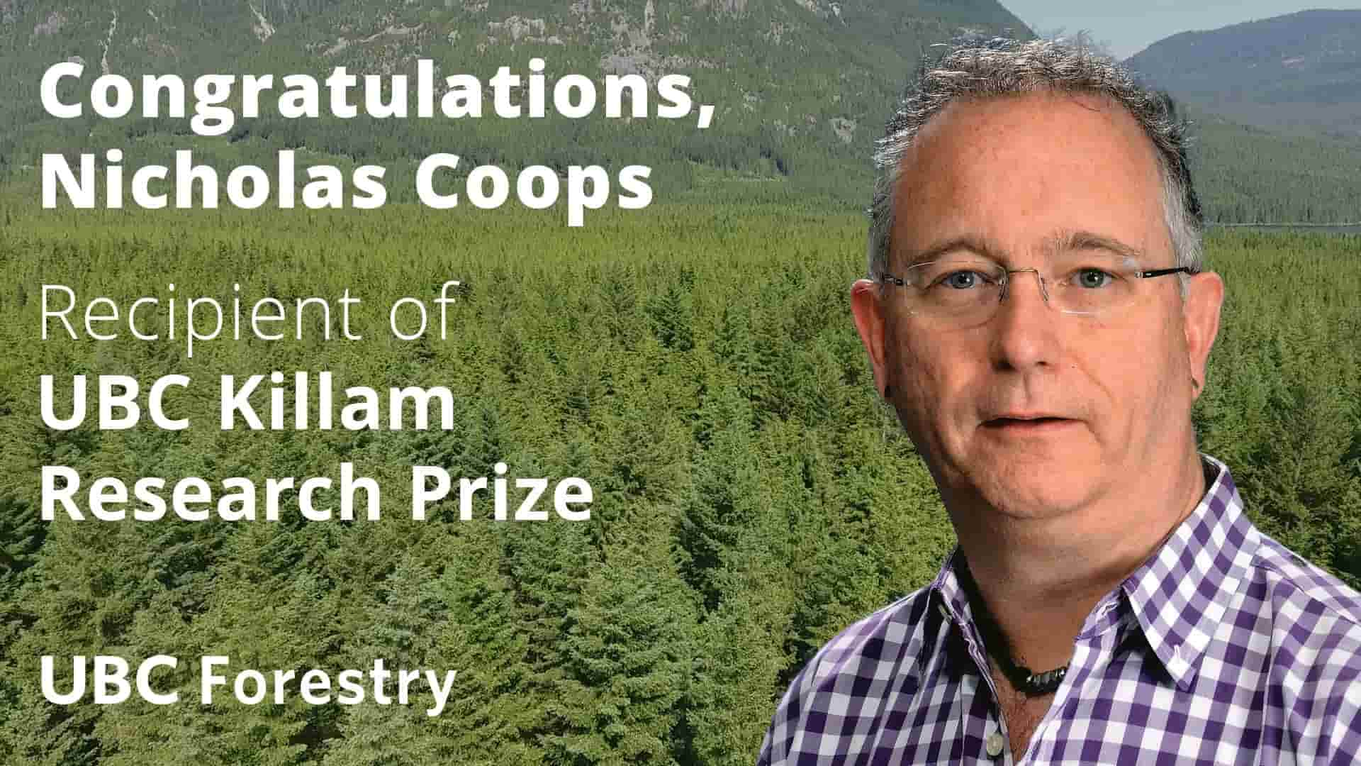 Nicholas Coops Receives Killam Research Prize
