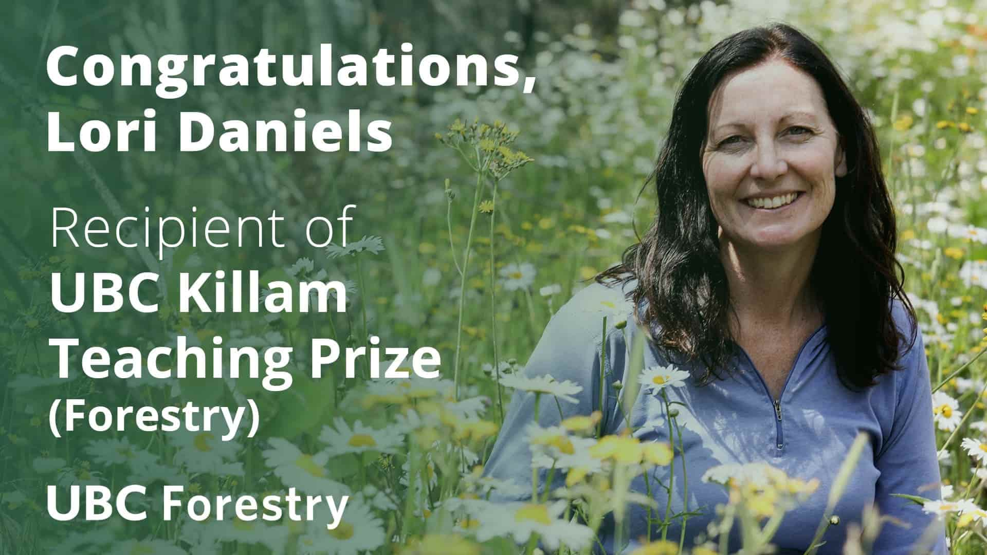 Lori Daniels Receives Killam Teaching Prize