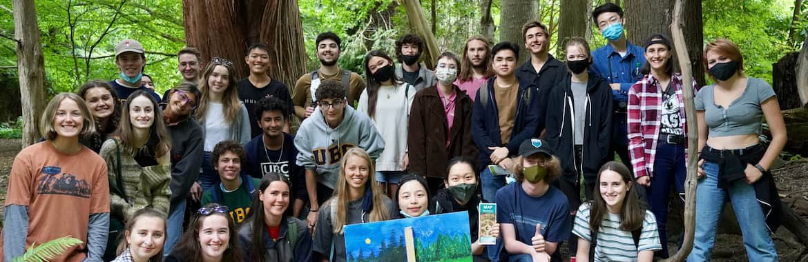 UBC Forestry students in the field